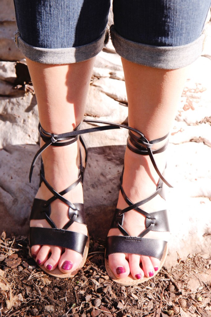 Colorful Casual Summer Look Sandals Detail