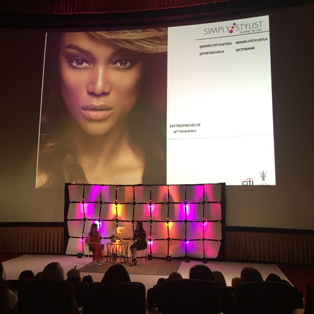 Simply Stylist LA Conference Tyra Banks