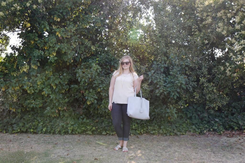 June StitchFix - Lace Blouse & Reversible Tote
