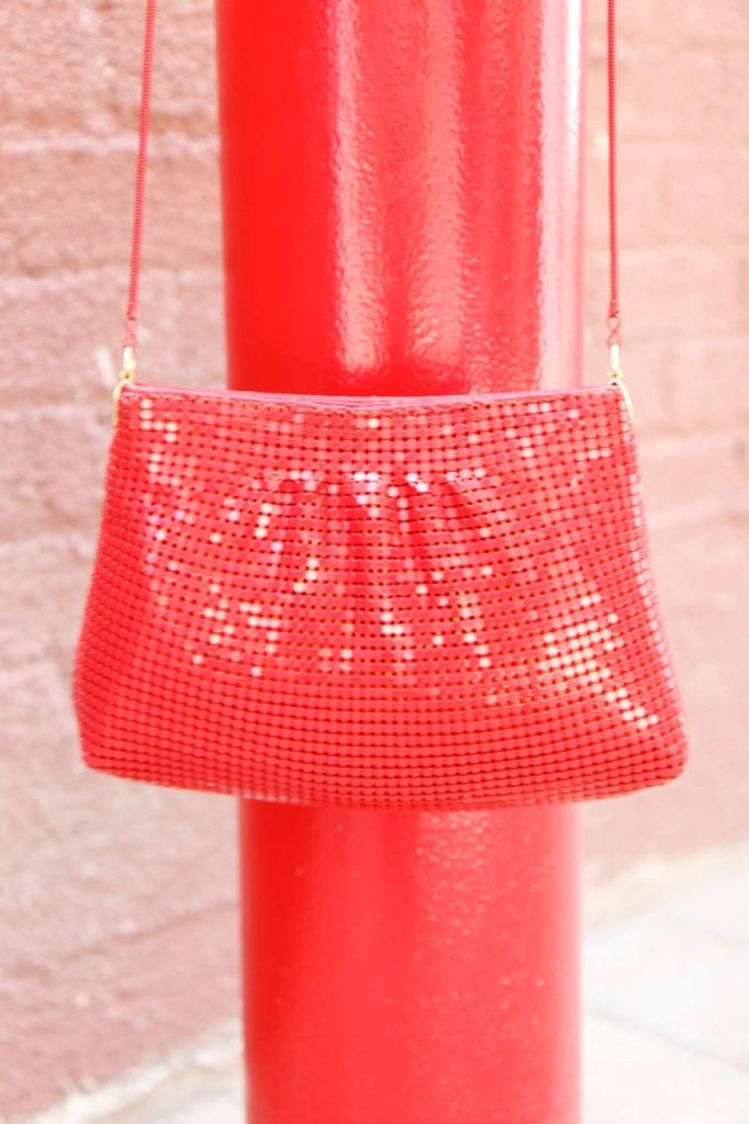 Mesh & Brushstrokes - Vintage Chainmail Bag