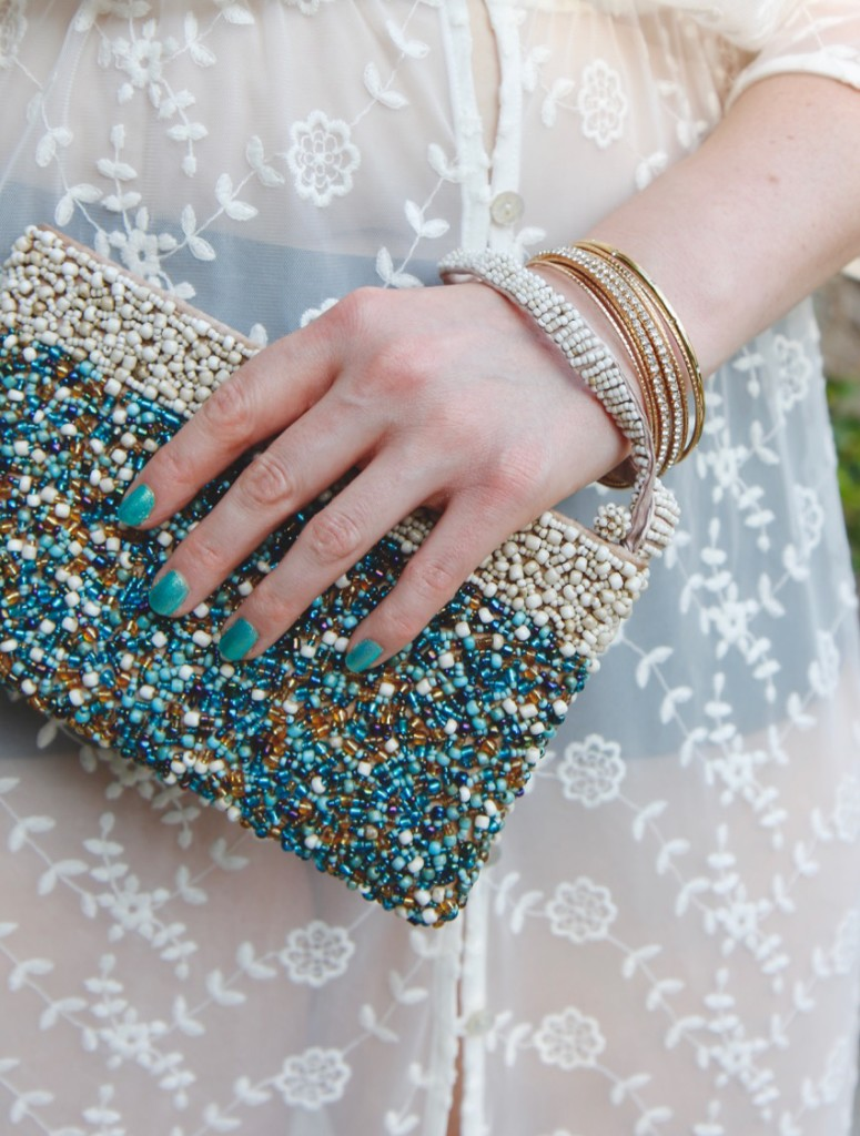 Poolside Glam - Beaded Clutch and Bangles
