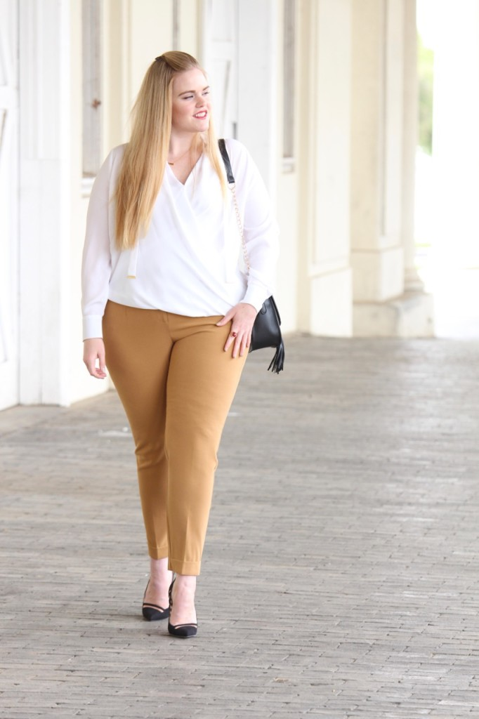 How to Wear White After Labor Day - Work Outfit with Heels