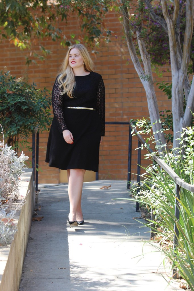 The Versatility of an LBD with Heels and Gold Accessories