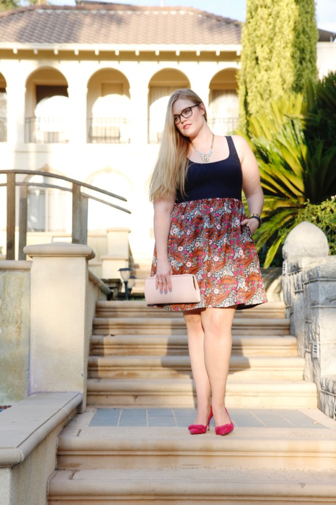 Monday at the Mansion - Anthropologie cocktail dress