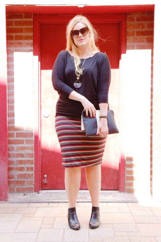 October Stitch Fix - Pencil Skirt & Dolman Top