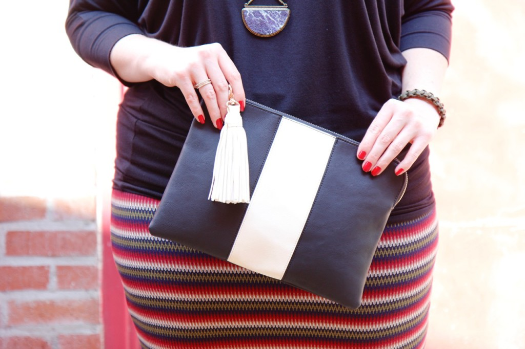 Dolman Top & Zigzag Skirt - Who What Wear for Target Clutch