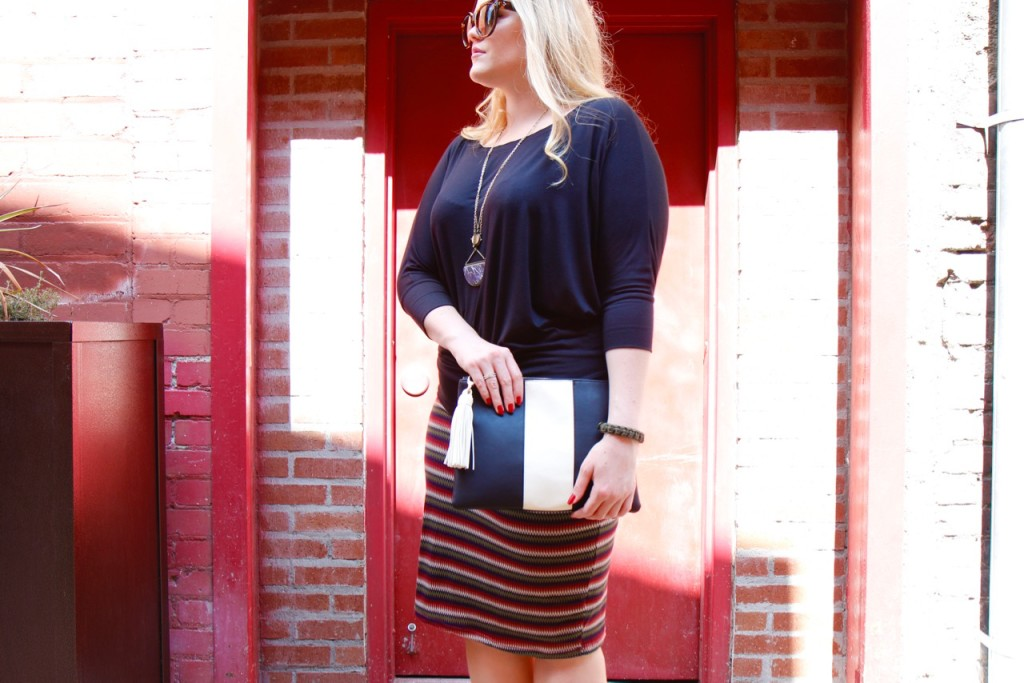 October Stitch Fix - Striped Skirt for Fall