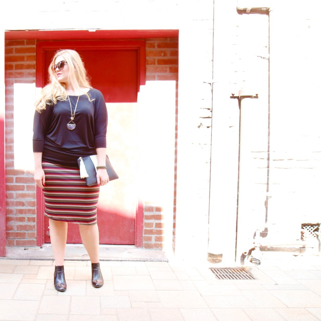 Dolman Top & Zigzag Skirt - Full Fall Fashion Outfit