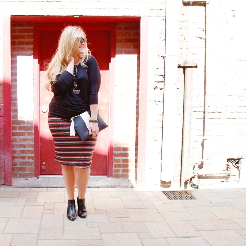Dolman Top & Zigzag Skirt - Full Fall Look
