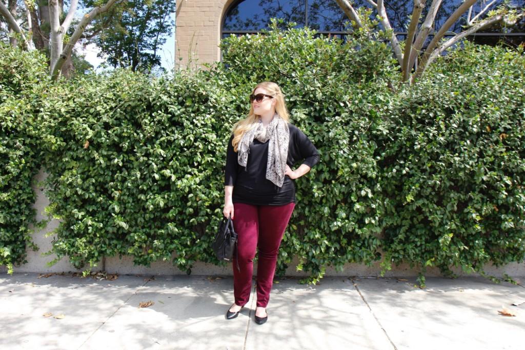 October Stitch Fix - Burgundry Corduroy Pants