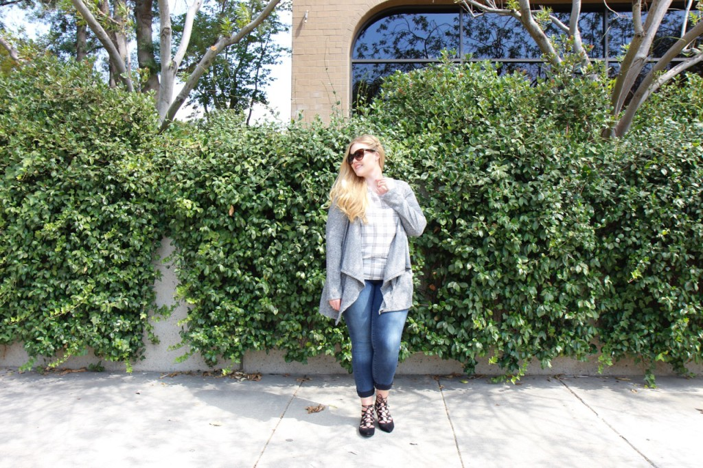 October Stitch Fix - Jeans and Hooded Cardigan