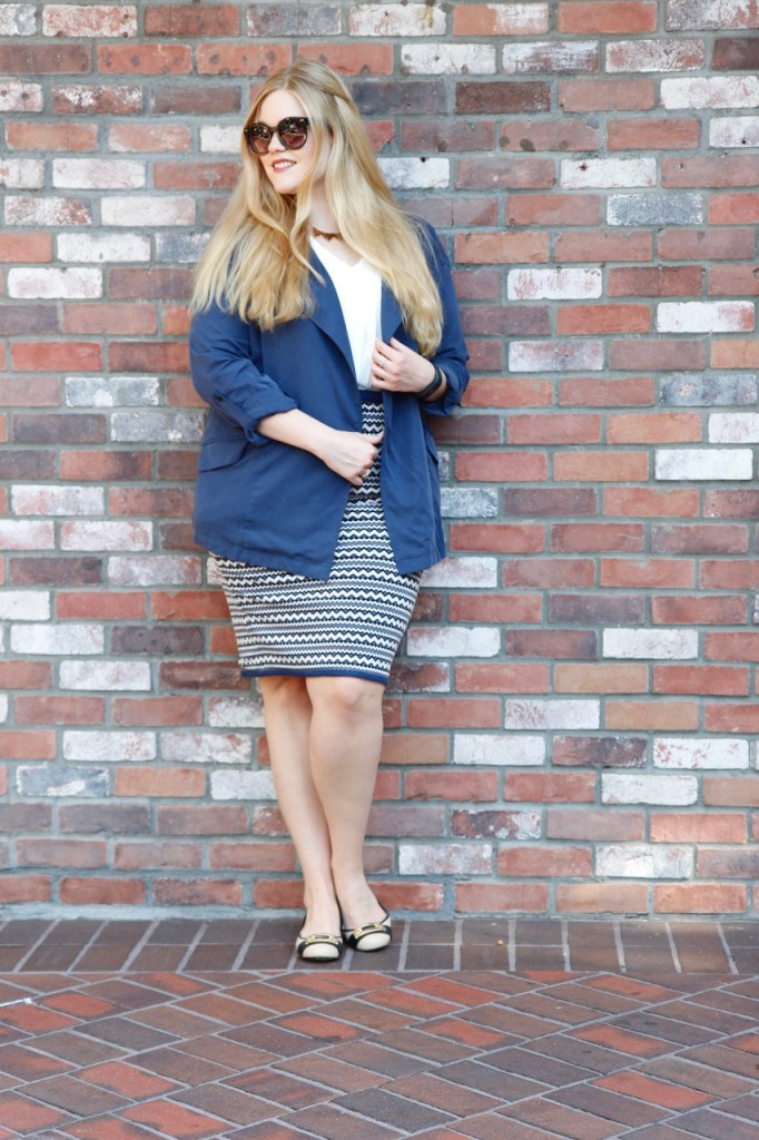 September Stitch Fix - Pencil Skirt, Trench Coat and Flats