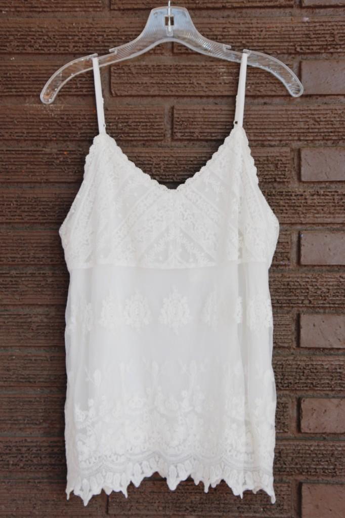 September Stitch Fix - White Lace Tank