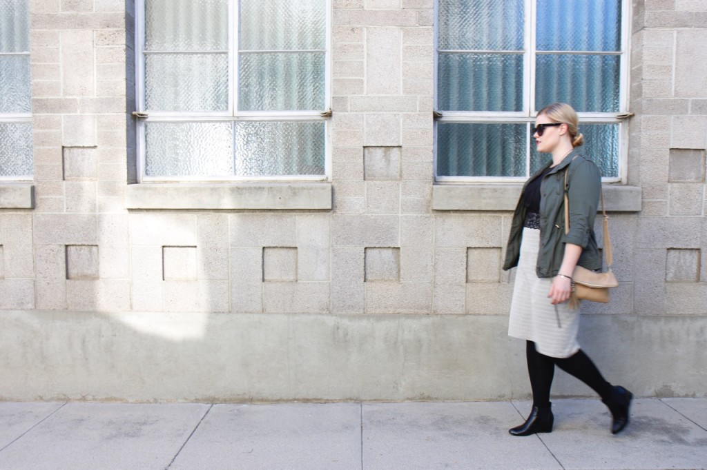 12 Ways to Style an LBD - Crossbody Bag, Tights, Ankle Boots