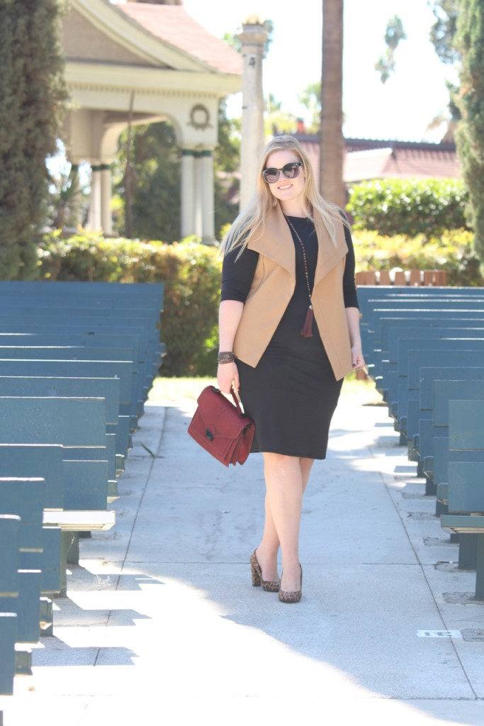 Layering a Midi Dress and a Giveaway! - Fall Fashion for Curvy Girls