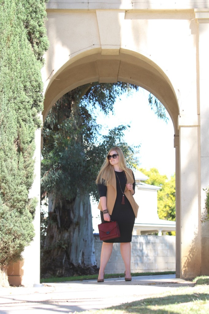 Layering a Midi Dress and a Giveaway! Perfect Fall Look