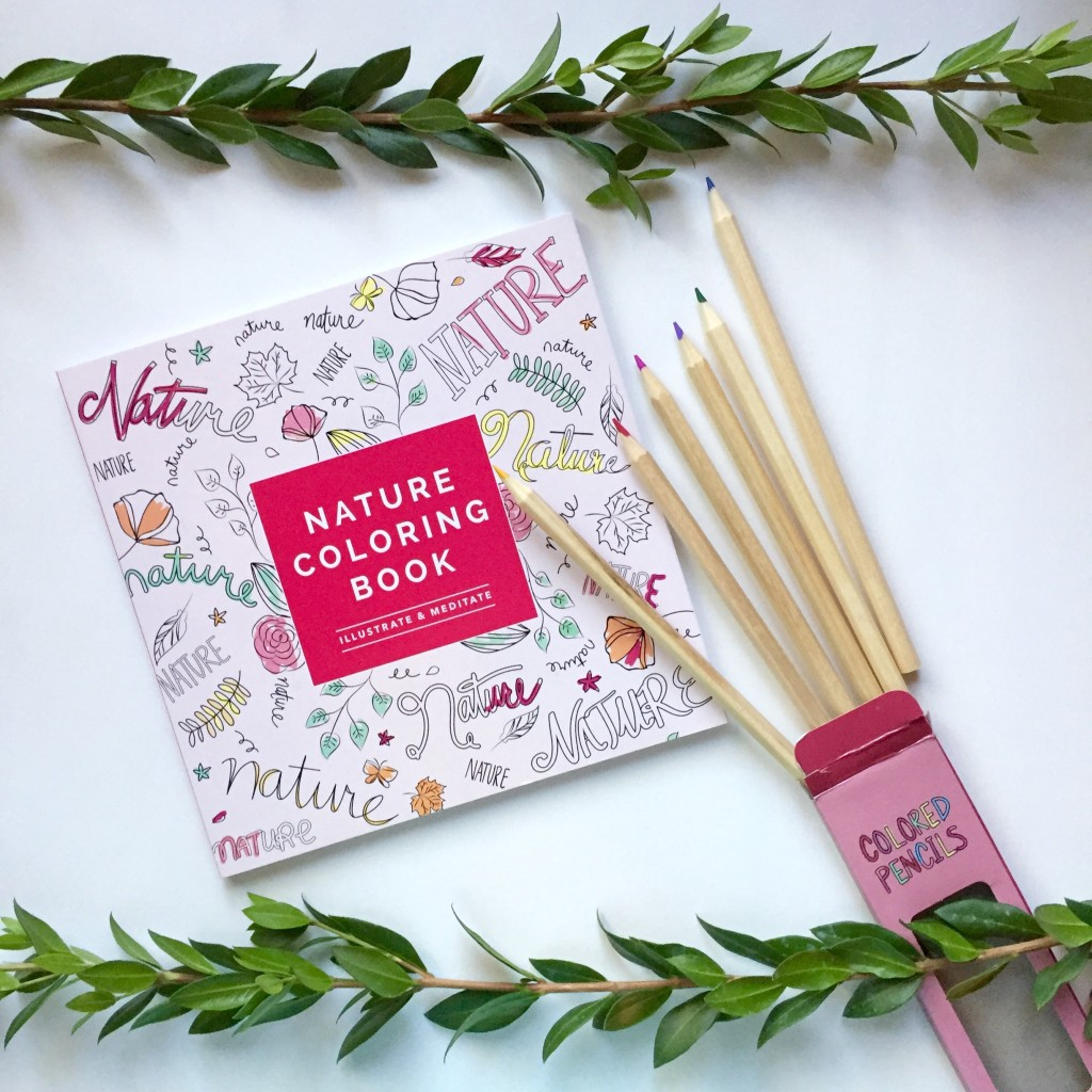 FabFitFun Fall Reveal - Coloring Book and Pencils