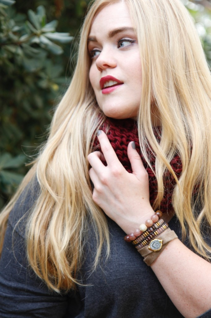 Ronnie M Jewelry Fall Lookbook - Stone Bracelet Stack