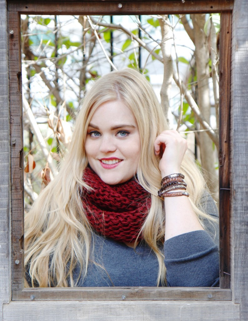 Ronnie M Jewelry Fall Lookbook - Infinity Scarf and Wrap Bracelet