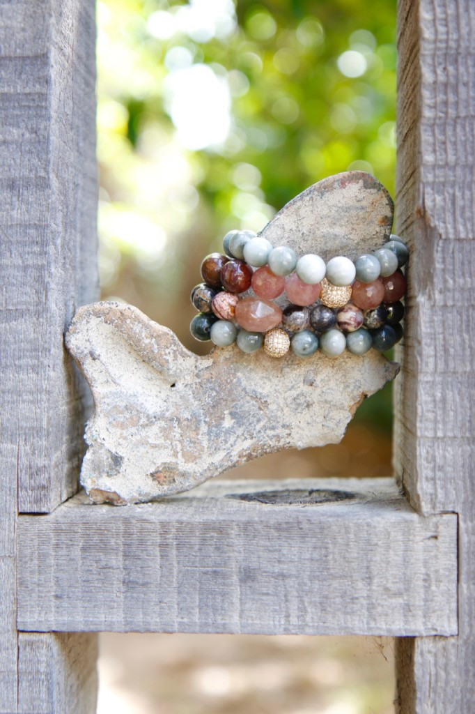 Ronnie M Jewelry Fall Lookbook - Layered Stone Bracelets