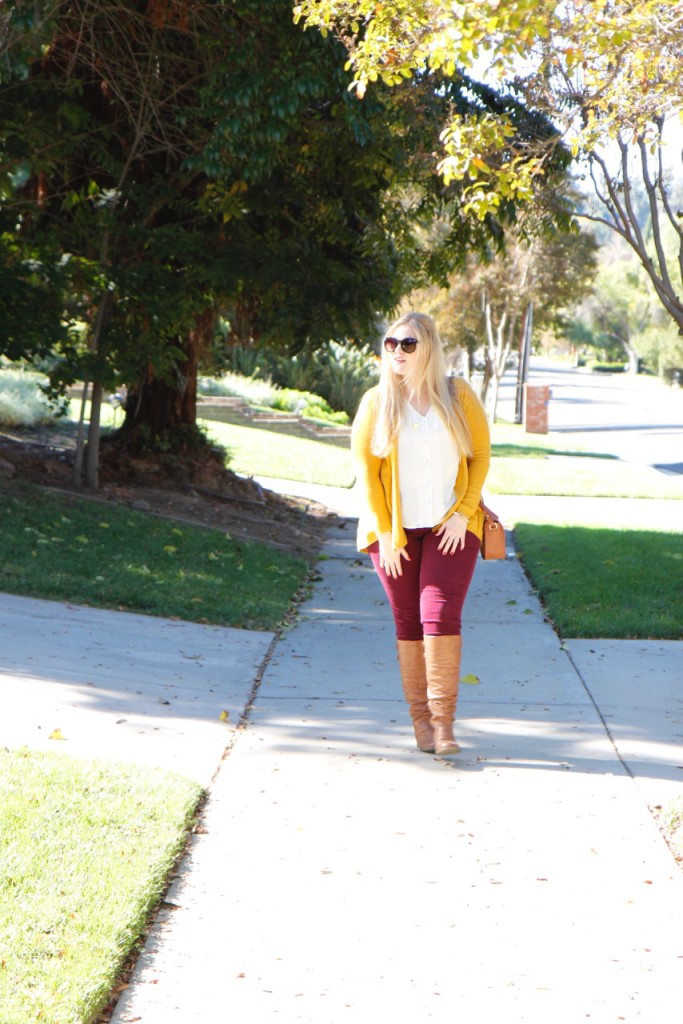 Fall Vibes - Stitch Fix Cords, Knee High Boots, Zara Cardigan