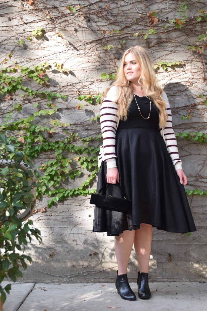 Dressing for Thanksgiving with Rent the Runway - Elliatt Black Verve Dress
