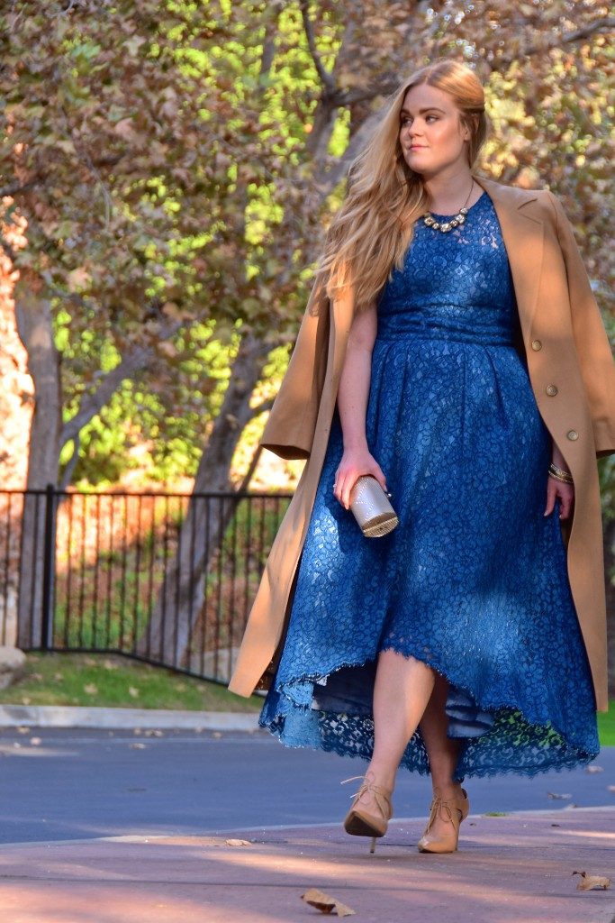 Dressing for Thanksgiving with Rent the Runway - Shoshanna Lace Midi Dress