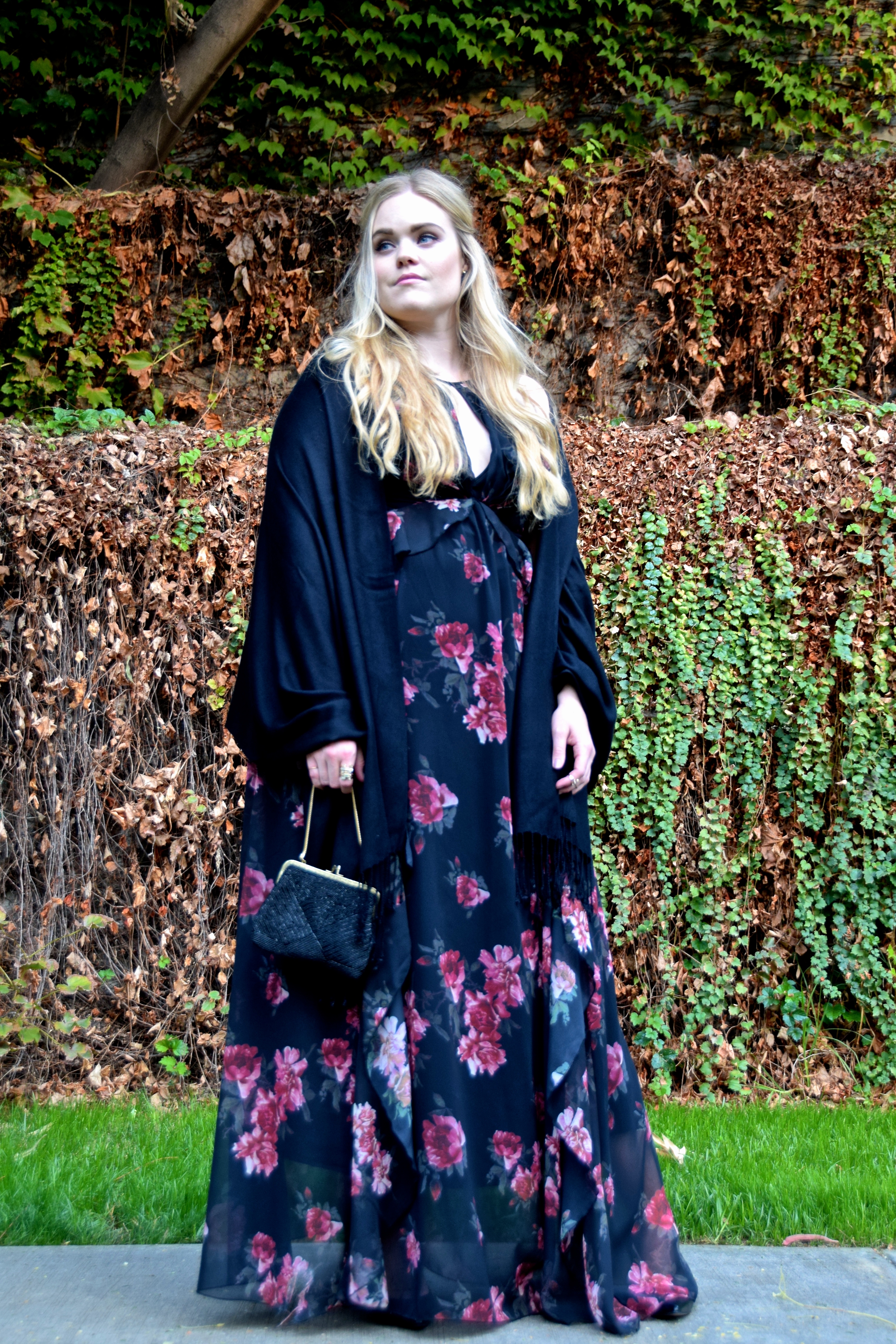 Floral Maxi Holiday Party Look - Erin Fetherston Olivia Gown