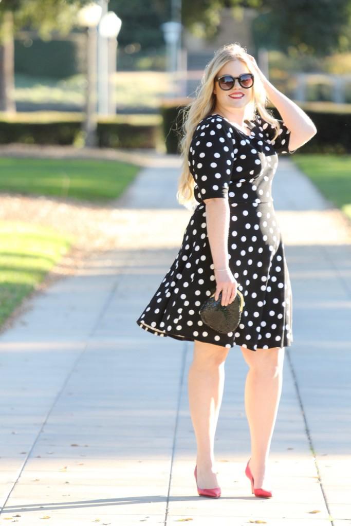 Happy New Year + Polka Dot NYE Look - Midi Dress