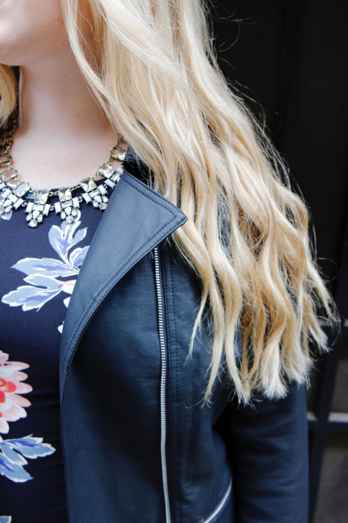 Party Ready with Simply Be - Faux Leather Jacket Details
