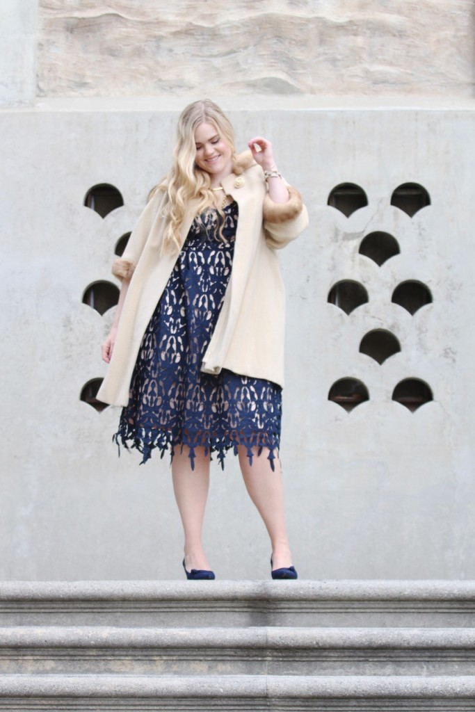 Party Ready with Simply Be - Lace Midi Dress and Vintage Cape