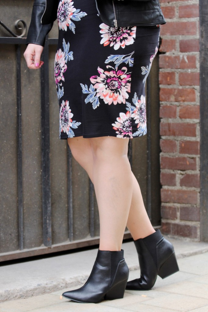 Party Ready with Simply Be - Floral Midi Dress and Ankle Booties
