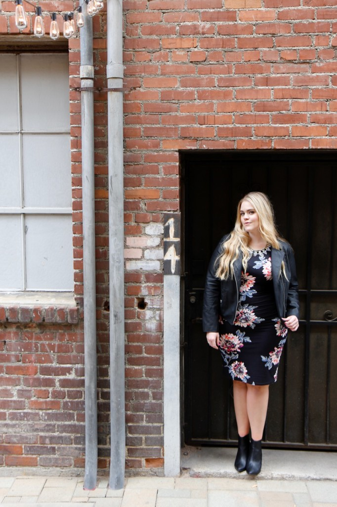 Party Ready with Simply Be - Floral Midi Dress and Faux Leather Look
