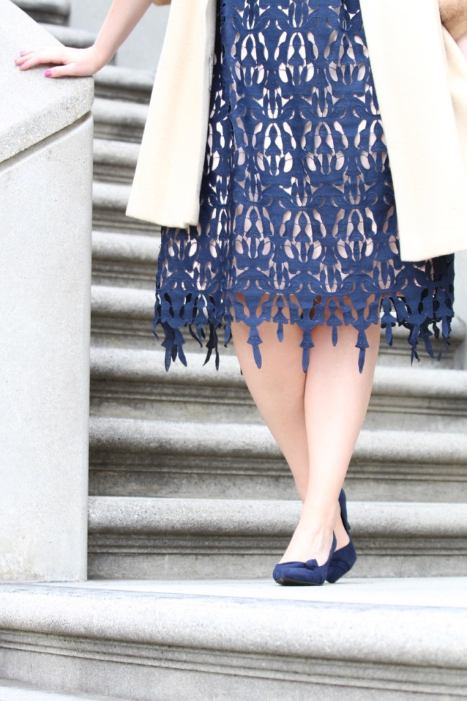 Party Ready with Simply Be - Lace Midi Dress and Bow Suede Heels