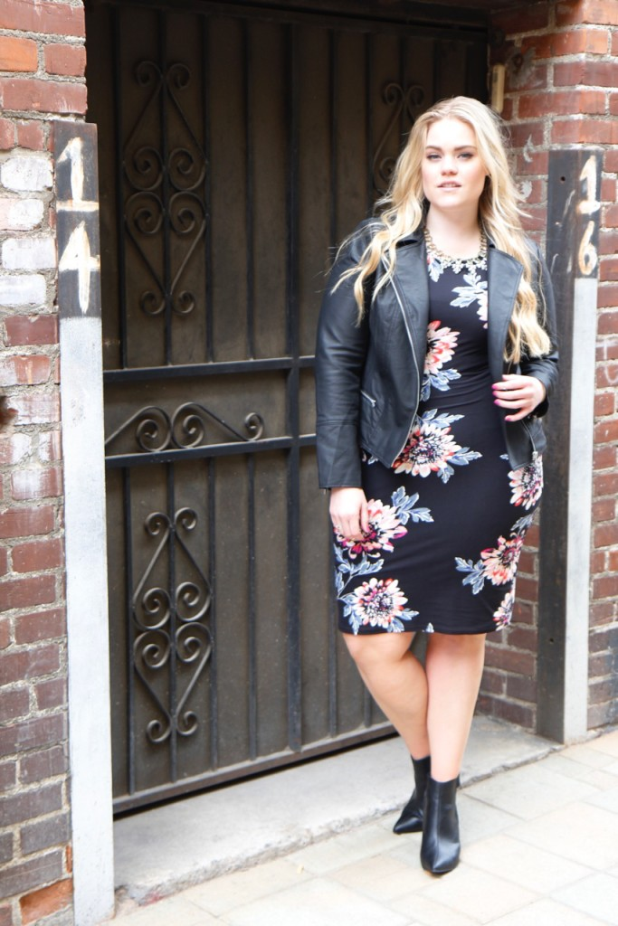 Party Ready with Simply Be - Floral Bodycon Midi Dress Outfit