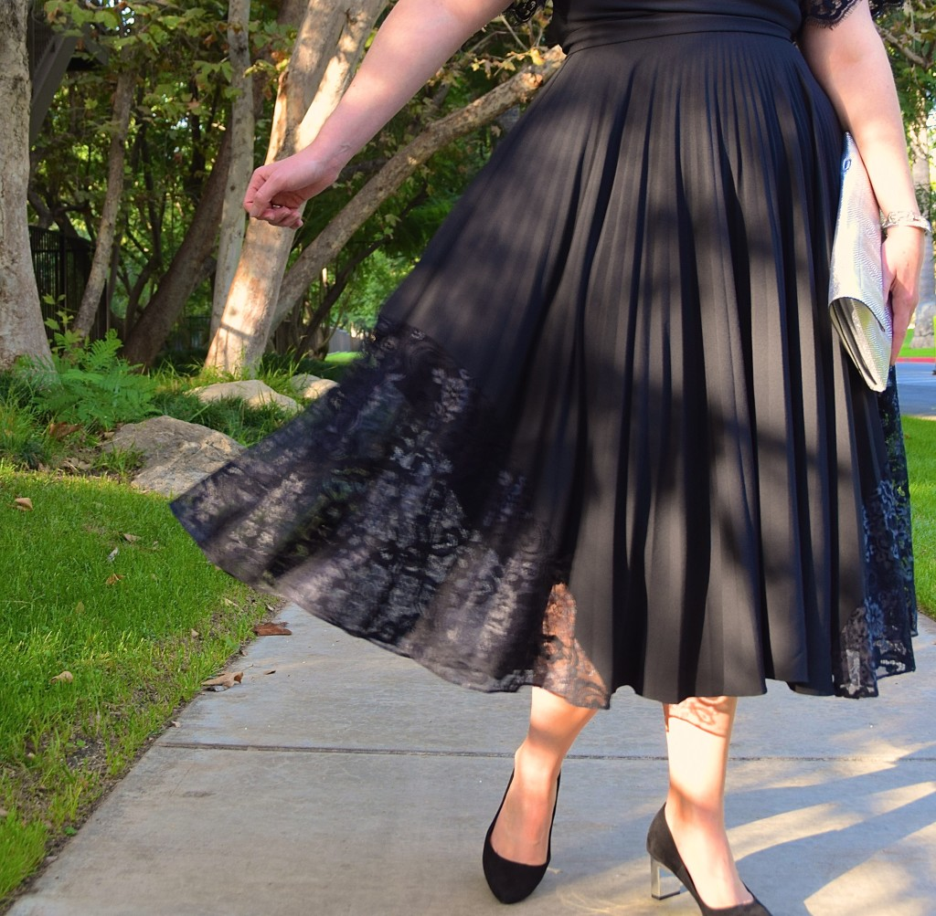 NYE Party Ready with Rent the Runway - Pleated Skirt LBD