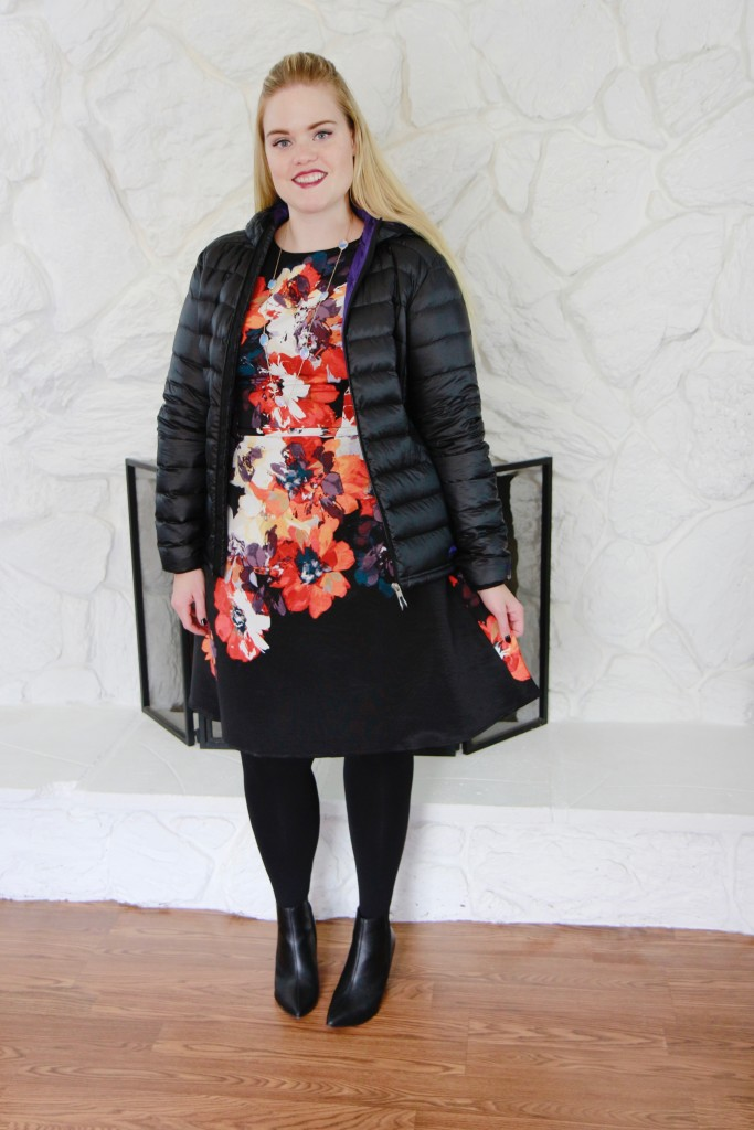 December Stitch Fix - Puffy Jacket and Party Dress
