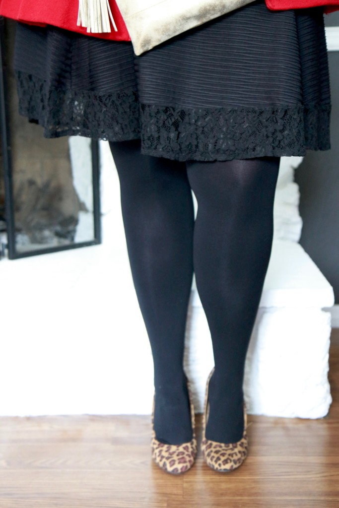 December Stitch Fix - LBD with black tights