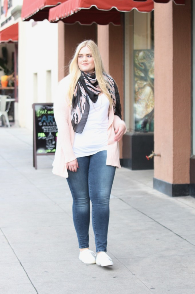 February Stitch Fix - Scarf, Jeans and Sneakers