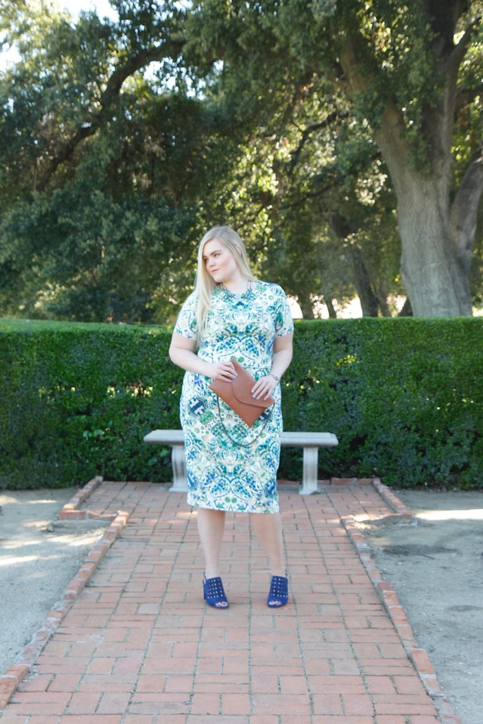 Spring Trends with Maggy London - Print midi dress