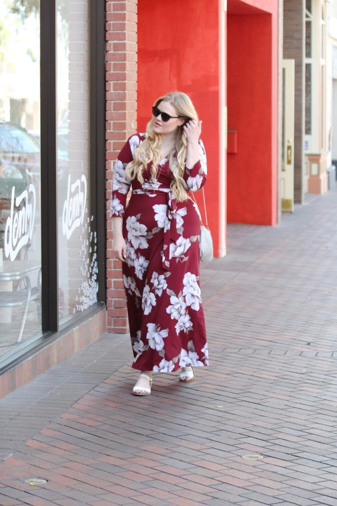 Garnet Floral Maxi with Perfectly Priscilla