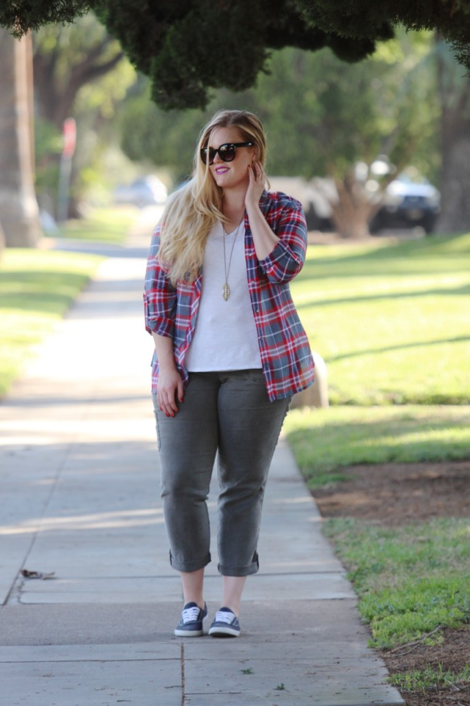 July Stitch Fix Review - Button Down and Cropped Cargos