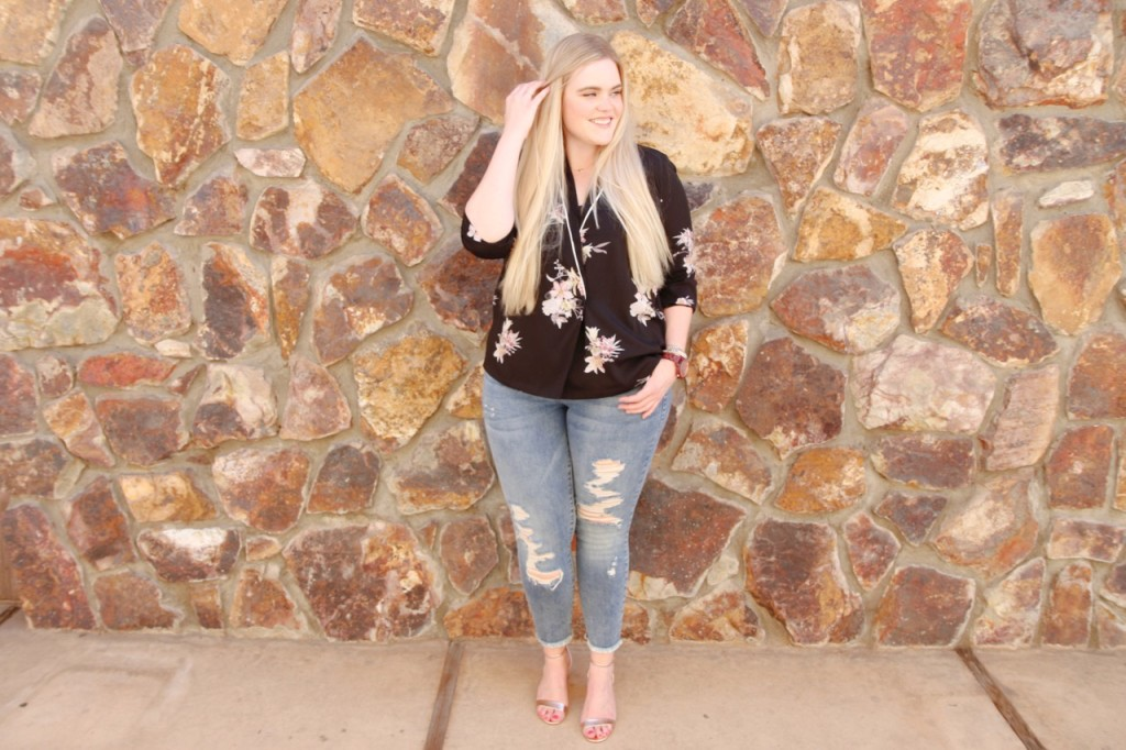Plus Size Fall Floral Outfit