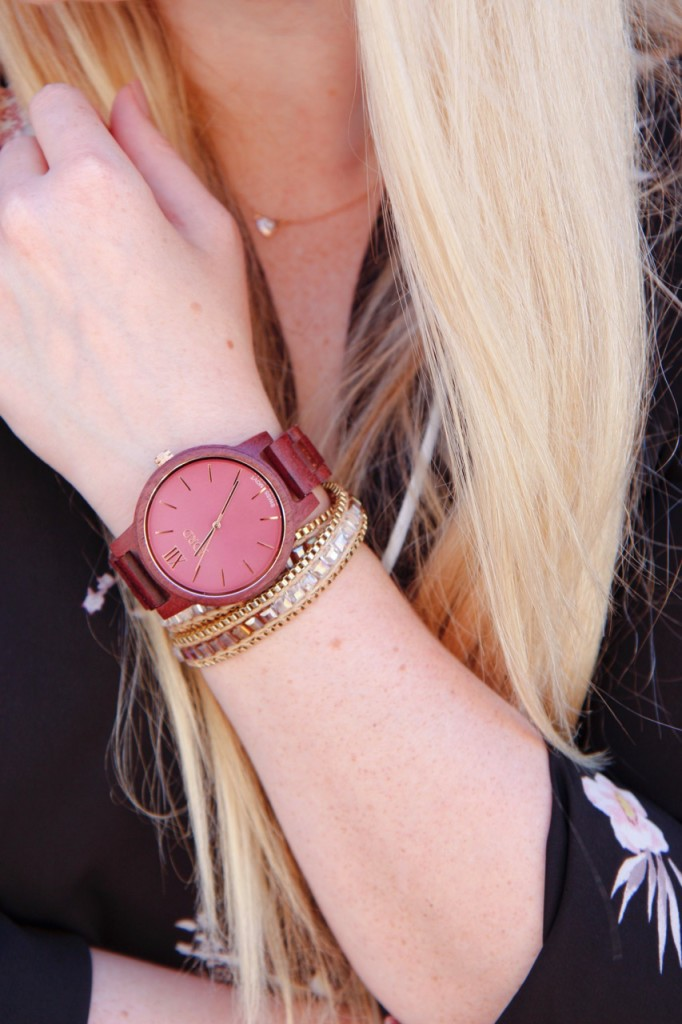 Jord Purpleheart Watch and Wrap Bracelet