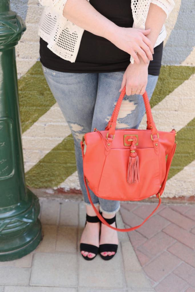 Elliott Luca Tassel Handbag Outfit