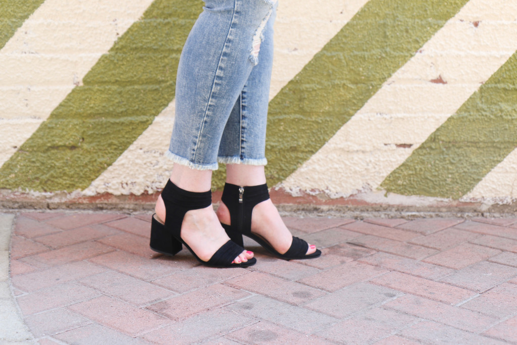 Ankle Strap Heeled Sandals for early Fall