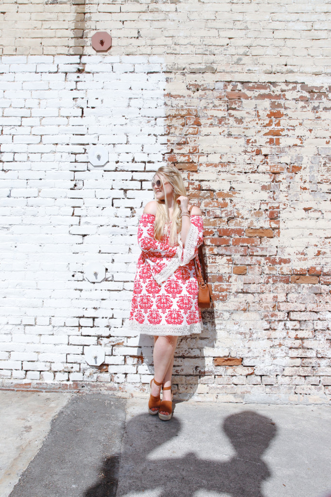 Summer Print Midi Dress Look