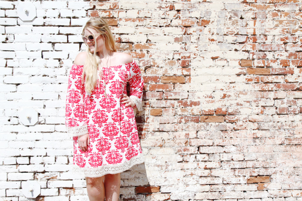 Crochet Trim Summer Dress