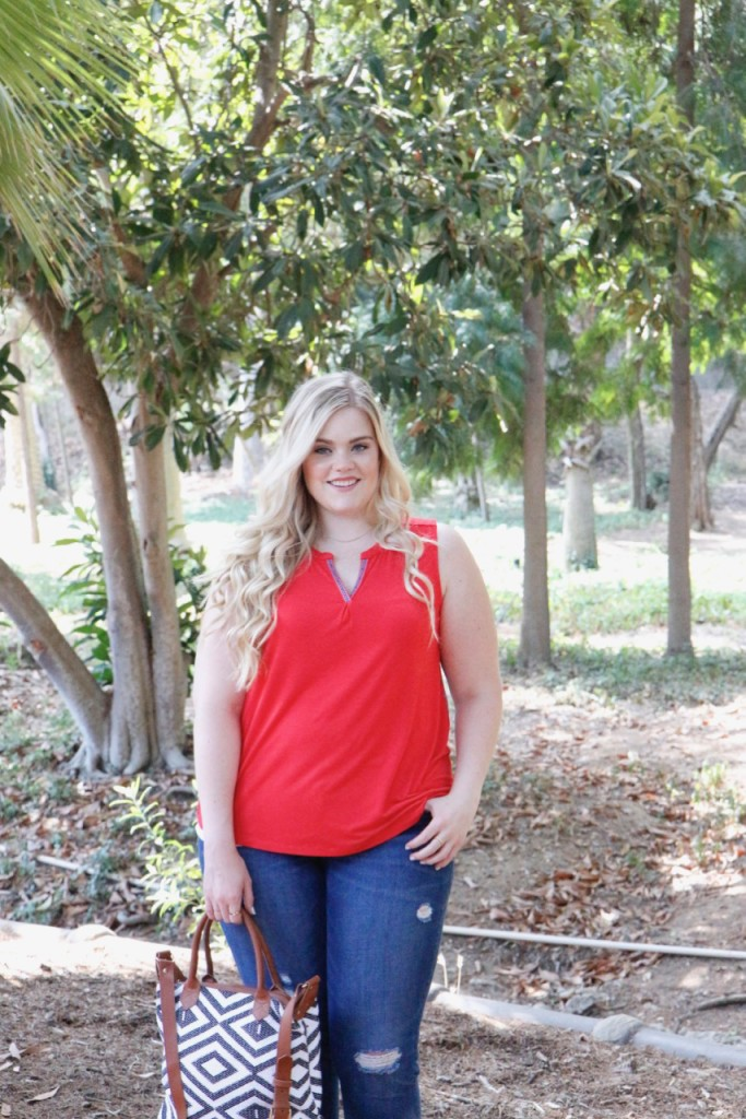 August Stitch Fix Review - Red Summer Top