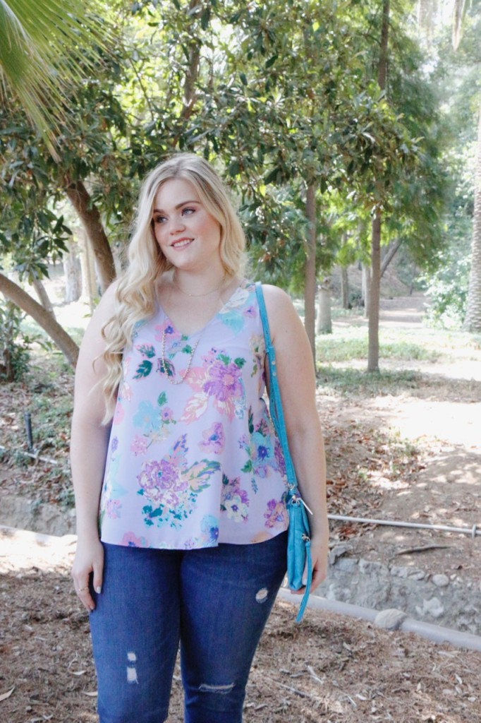 August Stitch Fix Review - Summer Floral Top
